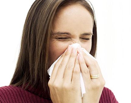 nasal block and sneezing